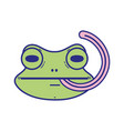 cute flog wild animal with tongue out vector image