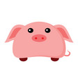 cute piggy character animal vector image vector image