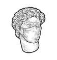 david medial mask sketch vector image vector image