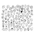 Drawing of face with many emotion vector image vector image