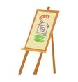 Easel art board vector image vector image
