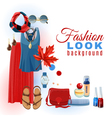 Fashion Look Background vector image vector image