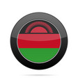 flag of malawi shiny black round button vector image vector image