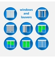 Flat icons for windows and louvers vector image vector image