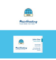flat internet logo and visiting card template vector image vector image