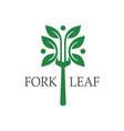 fork leaf logo vector image