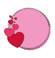 frame with hearts icon vector image vector image