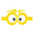 funny yellow eye mask vector image vector image