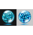 Glass spheres with glowing sparkles vector image vector image