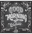 Good Morning cafe chalkboard vector image vector image