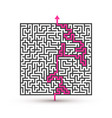 greek maze puzzle challenge with solution vector image