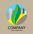 Green way city logo vector image vector image