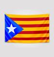 hanging flag of catalonia catalonia referendum vector image