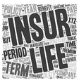 Is Term Insurance Right For You text background vector image vector image
