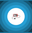 isolated charge icon flat accumulator vector image