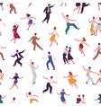 joyful colorful people dancing flat vector image