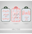 Labels Pink Flowers vector image vector image