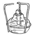 laboratory burner vector image vector image