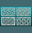 laser cut pamels template set abstract geometric vector image vector image