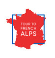 logo with map france in national colors vector image vector image