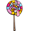 lollipop candy cartoon vector image vector image