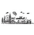 london city skyline 4 vector image vector image
