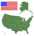 map and flag usa vector image vector image