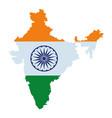 map india icon cartoon vector image vector image