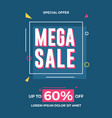 mega sale flyer template for social media banners vector image vector image