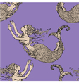 mermaid seamless 2 380 vector image vector image