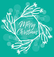 modern christmas decoration wreath with merry vector image vector image
