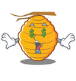 money eye bee hive character cartoon vector image