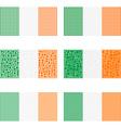 Mosaic Ireland flag set vector image vector image