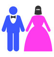 muslim marriage couple flat icon vector image