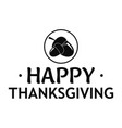 nuts thanksgiving logo simple style vector image
