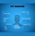 Original minimalist blueprint cv resume template