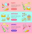 party celebration banner horizontal set vector image vector image