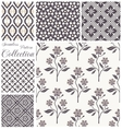 patterns collection set seamless floral vector image vector image