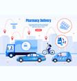pharmacy transportation company webpage vector image vector image