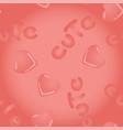 pink seamless pattern with kawai hearts and vector image vector image