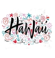 Print for T-shirt Hawaii vector image