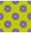 Purple flovers abstract seamless pattern vector image