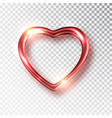 red heart realistic decoration 3d object vector image