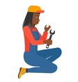 repairer holding spanner vector image vector image