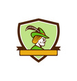 Robin Hood Side Ribbon Crest Retro vector image vector image