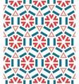 Seamless ceramic winter snowflake pattern vector image vector image