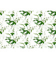 seamless pattern lemon leaves sweet pea greenery vector image vector image