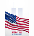 september 11 banner patriot day vector image vector image