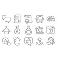 set business icons such as clean towel online vector image vector image