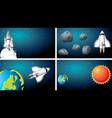 set space ship scenes vector image vector image
